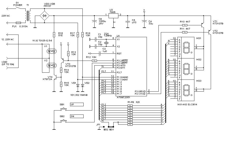 Устройство схема и подключение диммера для ламп